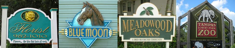 Tampa Street Signs | Gold Leaf | Brandon | Sarasota | Florida | (813